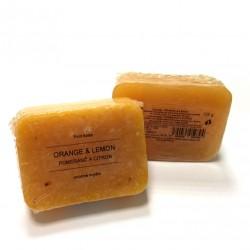菠丹妮柳橙檸檬手工皂/105g/8*6方形(現貨)